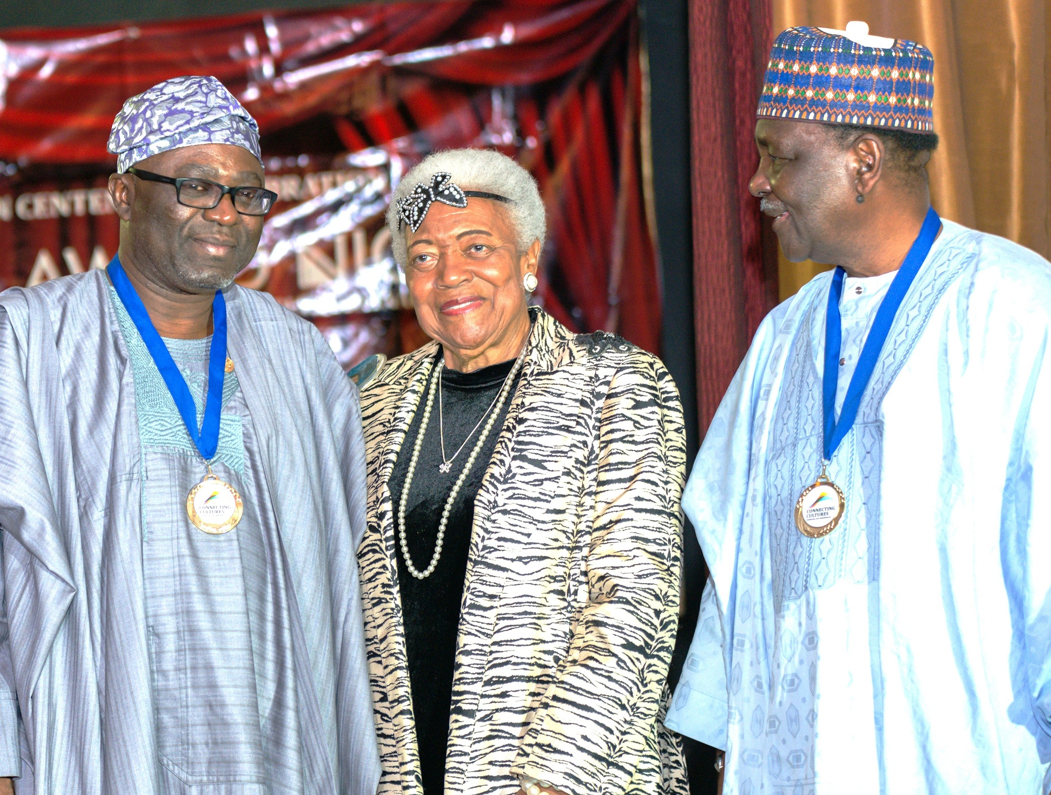 From right, Former Head of State, General Yakubu Gowon; American Civil Rights Leader, Dr Naomi Ruth King and Director General, Office of Economic Development & Partnerships State of Osun, Dr. Charles Akinola, during the Presentation of 2014 AD King Prize for Achievement in Public Service to Governor State of Osun, Ogbeni Rauf Aregbesola, at Commonwealth Observance Day in London.
