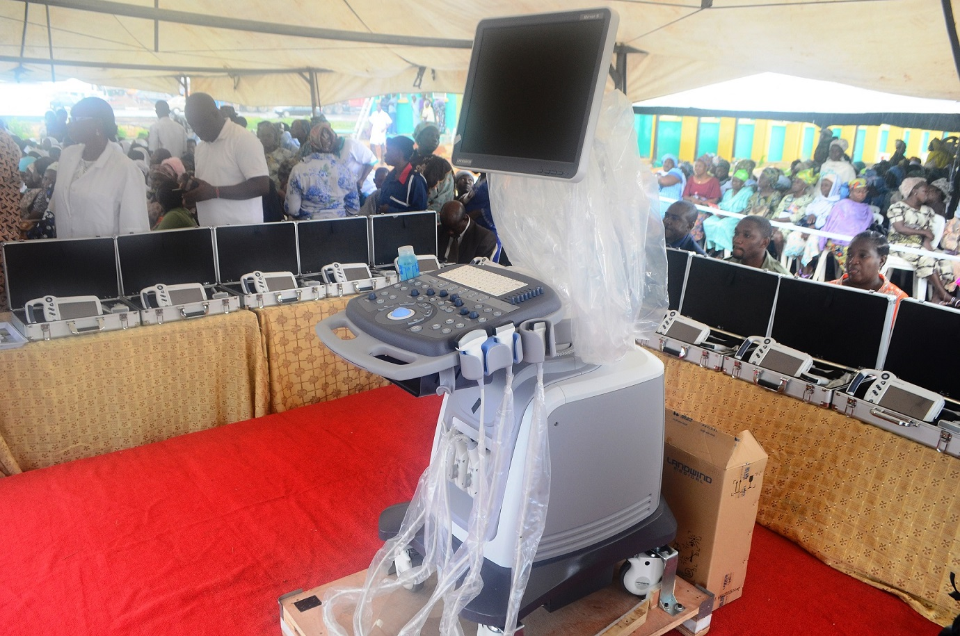 The newly Commissioned Hand-held Ultrasound Diagnostic (Touch Screen) Scanners and Mirror 3D (colour) Doppler Ultrasound Diagnostic Scanner distributed to State hospitals in Osun by Aregbesola's administration, at Nelson Mandela Freedom Park, Osogbo, State of Osun on Thursday 17-07-2014