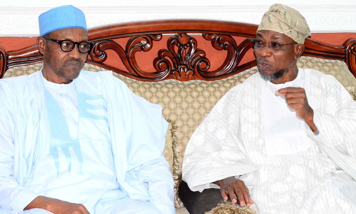 All Progressives Congress (APC) Presidential Aspirant, General Muhammadu Buhari (left) with Governor State of Osun, Ogbeni Rauf Aregbesola, during a Courtesy Visit to the Governor at Government House, Osogbo, State of Osun last week