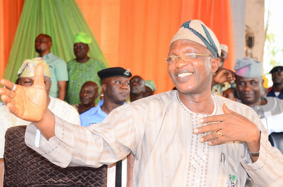 Osun's got talent: Secretary to the state government, Alhaji Moshood Adeoti showing off his dance moves.